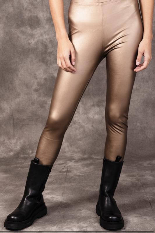 Legging PU Gold
