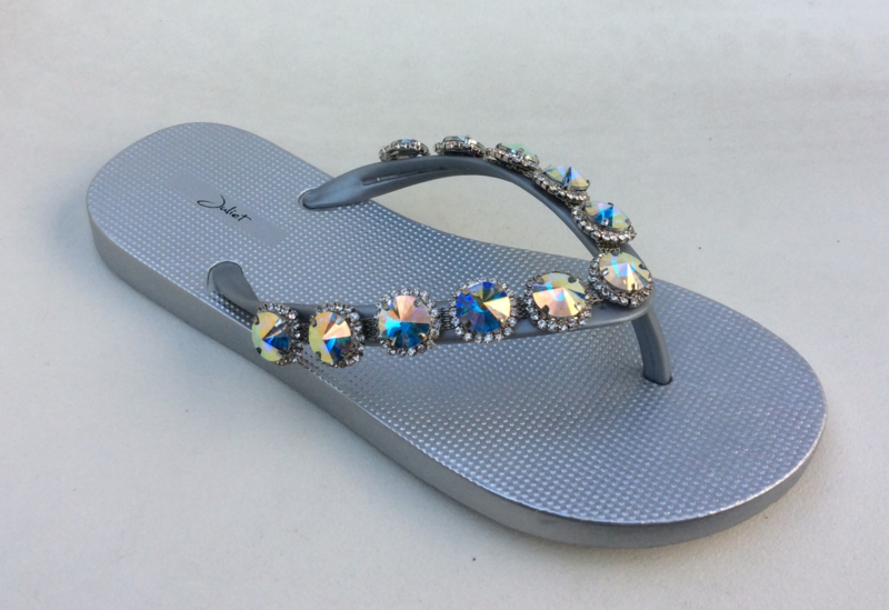 Slippers Stone Silver