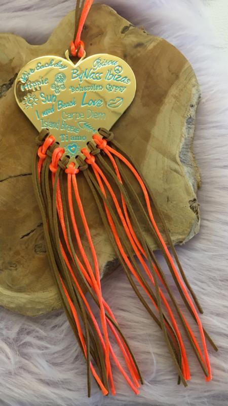 ByNAss Ibiza Necklace  Orange/Braun