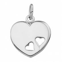 Hanger hart met hartjes