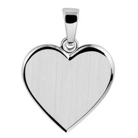 Hanger zilver hart mat