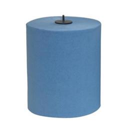 12 handdoekrol matic blauw, 150 meter