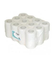 24 handdoekrollen mini, wit, 120 meter