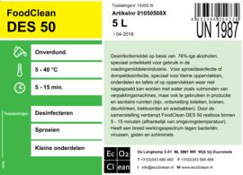 desinfectie spray voor materialen en kleine oppervlakken, 2 x 5 liter
