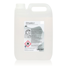 Desinfecterende handgel op alcohol basis (74,3%), doos 2 x 5 liter