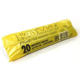2 dozen KOMO zakken grijs 55mu, (a 400 zakken per doos)