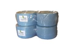 2 pak met 2 rollen Uierpapier, AA-kwaliteit, 3laags, 22 cm, 350 meter per rol, 1000 vellen, doorsnede 39 cm