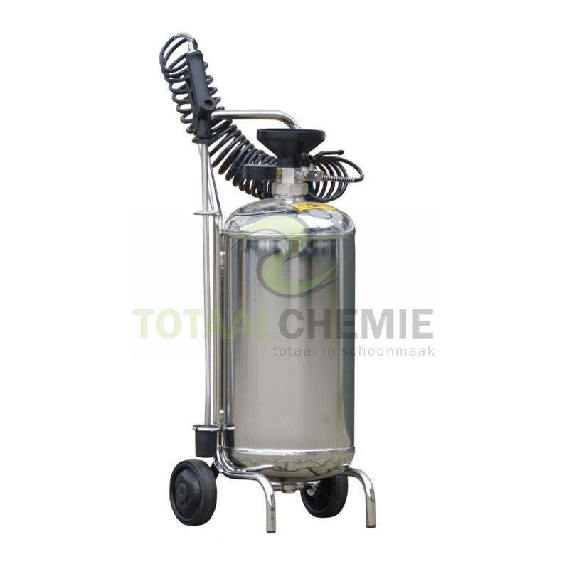Schuimtank Foam-Matic / RVS Schuimkar 50 liter schuimunit schuimketel