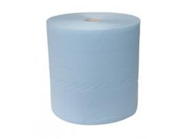 36 rollen industriepapier blauw, 380 meter, 37 cm, 3 laags, 100% cellulose