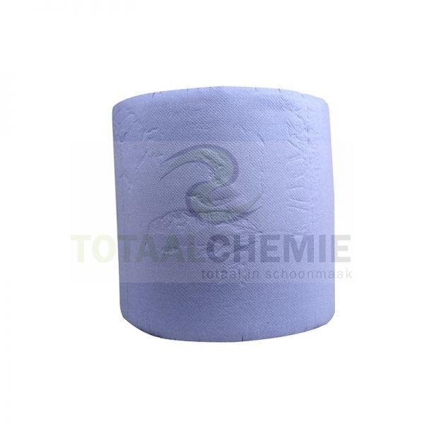 18 rollen industriepapier blauw, 380 meter, 37 cm, 3 laags, recycled cellulose
