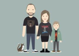 Familie poster avatar full body 2.0