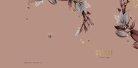 Geboortekaartje Bloemen