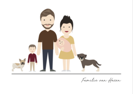 Familie poster avatar full body