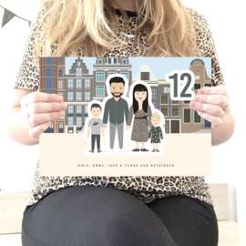 Naambord illustratie full body 2.0 city