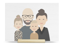 Illustratie op hout avatar