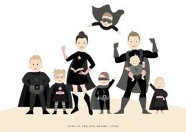FAMILIE POSTER SUPERHELD