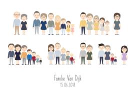Familie poster kleur x avatar