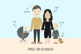 Familie illustratie full body 2.0 color