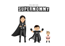 Familie poster supermom(grandma)
