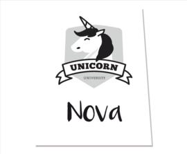 Unicorn monochrome
