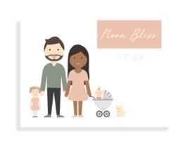 Geboortekaartje Avatar x Kleur