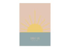 Geboortekaartje Pastel Sunset