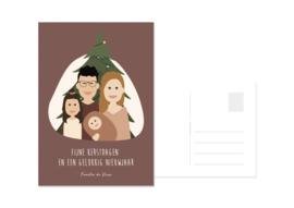 Kerstkaart kerstboom avatar
