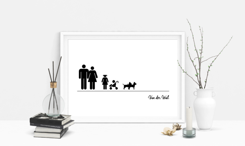 Familie poster icoon