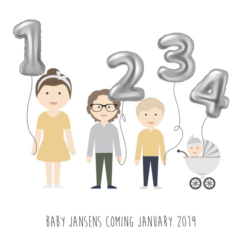 Baby announcement balloon
