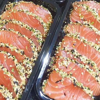 Zalm sashimi