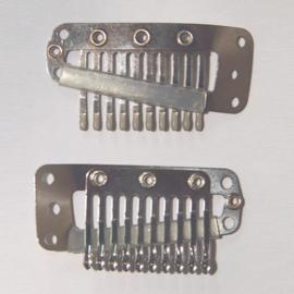 Haar-clips (zilver groot)
