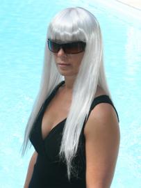 Gaga pruik wit