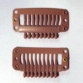 Haar-clips (bruin middelgroot)