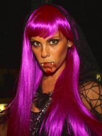 Gaga pruik paars