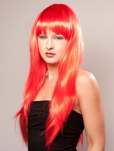 Gaga pruik rood