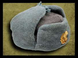 Russian police  ushanka hat.