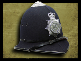 British rose top bobby helmet