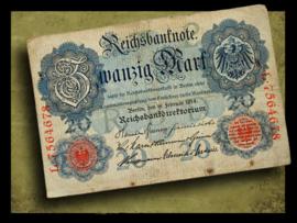 Duitsland 1914 Reichsbanknote 20 Mark