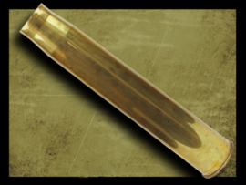 "British  3,7"" Gun brass Shell"