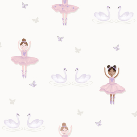 Dutch Make Believe 12461 Ballerina wit roze