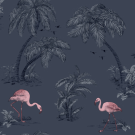 Dutch Imaginarium 12382 Flamingo donkerblauw roze