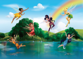 Fotobehang AG Design Disney FTD2222 Fairies with Rainbow 4-d