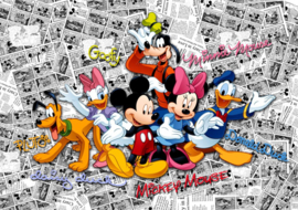 Fotobehang AG Design Disney FTD2225 Mickey on Dark Comics 4-d