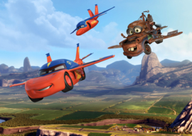 Fotobehang AG Design Disney FTD2206 Cars Flying 4-d
