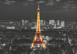 Fotobehang AG Design FTS1316 Eiffel in the Night 4-d