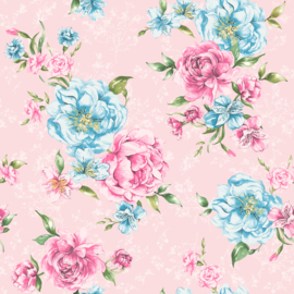 Dutch The Enchanted Garden 98944 Lavinia roze blauw