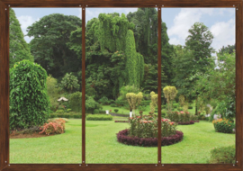 Fotobehang AG Design FTS1314 Window in Garden 4-d