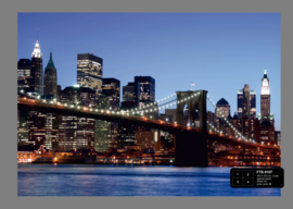Fotobehang AG Design FTS0107 Brooklyn Bridge 4-d