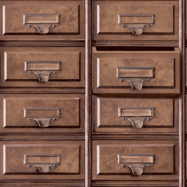 Dutch Imaginarium 11970 Vintage Drawers bruin