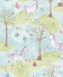 Dutch Little Ones LO2102 Unicorn blauw groen